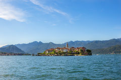 Lake Maggiore Fishermen Island, Stresa italy. Landscape with Island Fishermen  on Maggiore lake, Stresa, Italy Royalty Free Stock Images