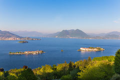 Lake Maggiore Island Fishermen, Island Bella and Island Madre, S Royalty Free Stock Images