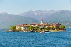 Lake Maggiore Island Fishermen at Stresa italy Royalty Free Stock Image