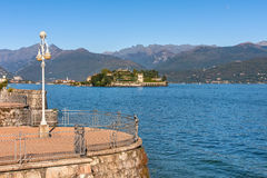 Lake Maggiore and Isola Bella in Italy. Stock Photo