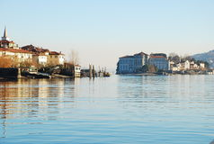 Lake Maggiore, Italy. Borromeo islands Royalty Free Stock Images