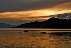 Lake Maggiore Italy. Italy square sky windows cloud tower colors country road street courts green door panorama sunset courts sleep square Royalty Free Stock Photography