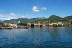 Lake Maggiore, Italy. Verbania Intra. The city of Verbania Intra by Lake Maggiore, Italy royalty free stock photo