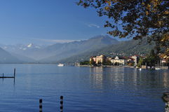 Lake Maggiore, Italy: Verbania Pallanza lakeside town Royalty Free Stock Photo