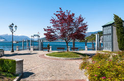 Lake Maggiore, Laveno, Italy Stock Photo