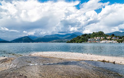 Lake Maggiore from Laveno Mombello Stock Image