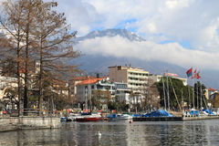 Lake Maggiore and Locarno city Royalty Free Stock Image