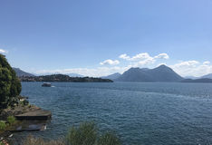 Lake Maggiore panorama Royalty Free Stock Images
