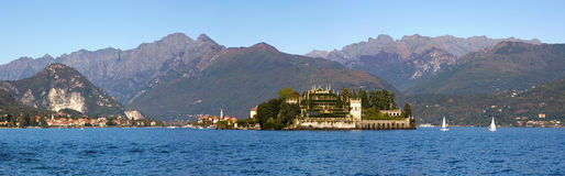 Lake Maggiore panoramic view. Royalty Free Stock Images