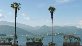 Lake Maggiore, scenic view. stock video