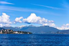 Lake Maggiore and Swiss Alps Royalty Free Stock Images
