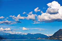 Lake Maggiore and Swiss Alps Stock Photos