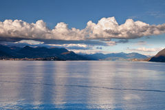 Lake Maggiore and Swiss Alps Stock Photography