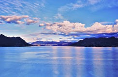 Lake Maggiore and Swiss Alps Stock Images