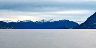 Lake Maggiore and Swiss Alps Royalty Free Stock Photo