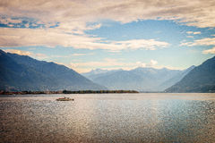 Lake Maggiore, Switzerland. Lago Maggiore in Switzerland and Italy Stock Photo