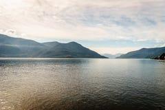 Lake Maggiore, Switzerland. Lago Maggiore in Switzerland and Italy Stock Photography