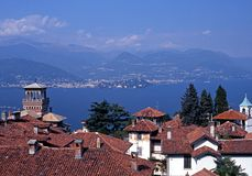 Lake Maggiore, Vedasco, Italy. Royalty Free Stock Photography