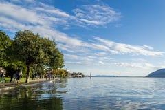 Lake Maggiore. Verbania Pallanza, Italy Stock Images