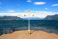 Lake Maggiore view, Italy Royalty Free Stock Photos