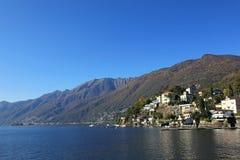Lake Maggiore and Ascona. Lake Maggiore and the village of Ascona, Switzerland royalty free stock photos
