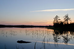 Lake Magrino in Karelia, Russia Stock Image