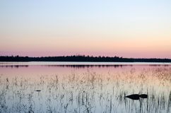 Lake Magrino in Karelia, Russia Royalty Free Stock Photos
