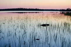 Lake Magrino in Karelia, Russia Stock Photography