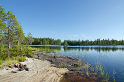Lake Magrino in Karelia Royalty Free Stock Image