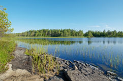 Lake Magrino in Karelia Royalty Free Stock Images