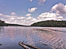 Lake. Maine trees forest northwoods sunset sunrise clouds sky field lake water stock photos