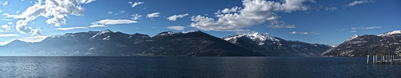 Lake Major landscape, Luino Royalty Free Stock Photography