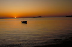 Lake Malawi. Sunset over Lake Malawi at Monkey Bay, Malawi stock photos