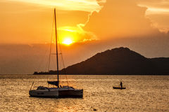 Lake Malawi Sunset Royalty Free Stock Photo