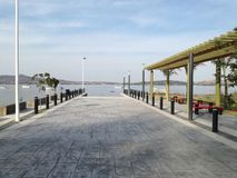 Lake malecon. Visit the malecon, great view of the lake with boats Stock Image