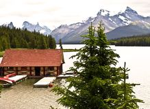 Lake maligne Canada banff national park Royalty Free Stock Photography
