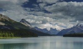 The Lake. Maligne Lake, Jasper National Park, Alberta, Canada Royalty Free Stock Image