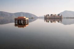 Lake Man Sagar and Jal Mahal, Jaipur Stock Photo