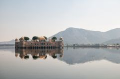 Lake Man Sagar and Jal Mahal, Jaipur Stock Photos