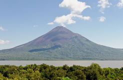 Lake Managua volcano scenic Stock Photo