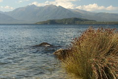 Lake Manapouri in Fiordland National Park Royalty Free Stock Photo