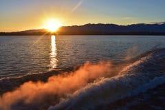 Lake Manapouri, New Zealand Stock Photo