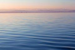 Lake Manasarovar (Mapam Yumco) at the sunset, Tibet Royalty Free Stock Images