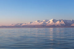 Lake Manasarovar in Western Tibet Stock Photography