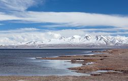 Lake Manasarovar in Western Tibet, China Stock Photography