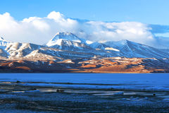 Lake Manasarovar in Western Tibet Stock Images