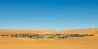 Lake Mandara - Desert Oasis, Sahara, Libya Royalty Free Stock Photo