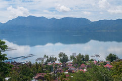 Lake Maninjau (Danau Maninjau) Royalty Free Stock Photography