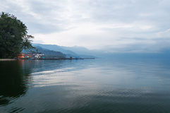 Lake Maninjau in the early morning Stock Images