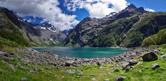 Lake Marian, New Zealand. stock image